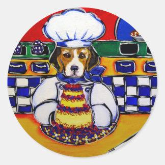 Beagle Chef Classic Round Sticker