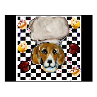 Beagle Chef Post Card