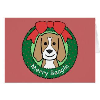 Beagle Christmas Stationery Note Card