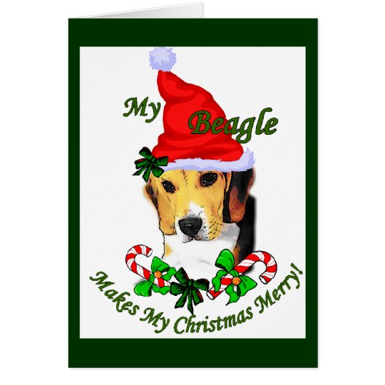 Beagle Christmas Gifts Card
