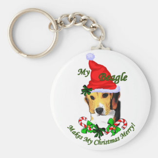 Beagle Christmas Gifts Keychain
