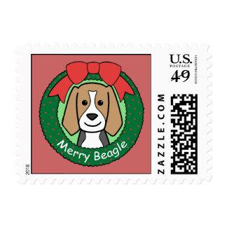 Beagle Christmas Postage