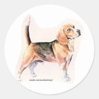 Beagle Classic Round Sticker
