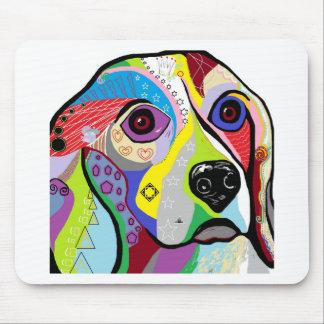 Beagle Close-up Mouse Pad