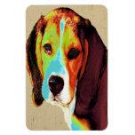 Beagle coloreado Digital Imanes Flexibles