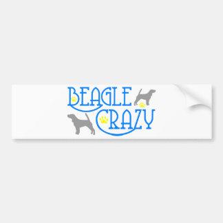 BEAGLE CRAZY CAR BUMPER STICKER