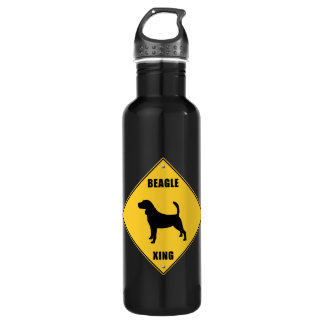 Beagle Crossing (XING) Sign 24oz Water Bottle