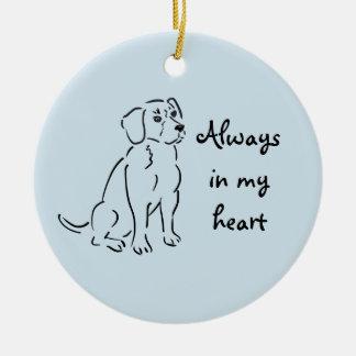 Beagle Custom Pet Loss Keepsake for Dog Lover Ceramic Ornament