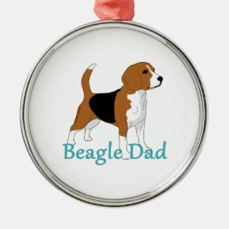 Beagle Dad Beagle Lovers Black Tan White Dog Metal Ornament