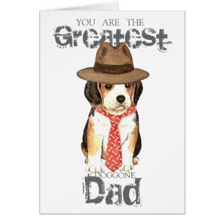 Beagle Dad Card