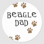 Beagle Dad Classic Round Sticker