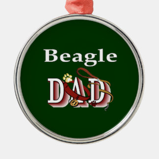 Beagle Dad Gifts Metal Ornament