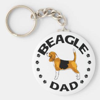 Beagle Dad Keychain