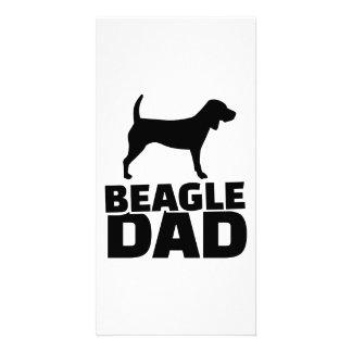 Beagle Dad Photo Card