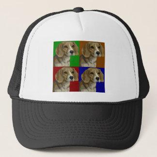Beagle Dark Primary Color Collage Trucker Hat