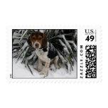 Beagle de la nieve - franqueo Snoopy lindo del inv