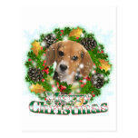 Beagle de las Felices Navidad Tarjeta Postal
