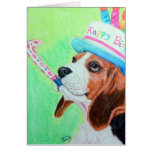 Beagle del cumpleaños felicitacion