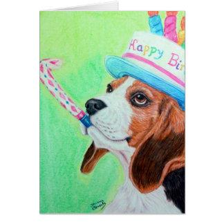 Beagle del cumpleaños tarjeta de felicitación