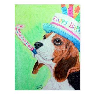 Beagle del cumpleaños tarjeta postal
