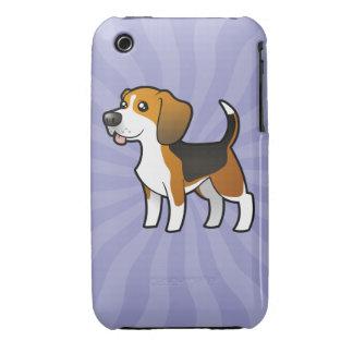 Beagle del dibujo animado iPhone 3 Case-Mate protectores