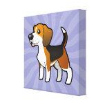 Beagle del dibujo animado impresiones en lona estiradas