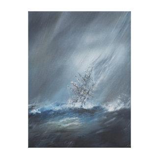 Beagle del HMS en tormenta el cabo de Hornos del Lienzo Envuelto Para Galerías
