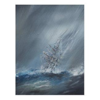 Beagle del HMS en tormenta el cabo de Hornos del Postal