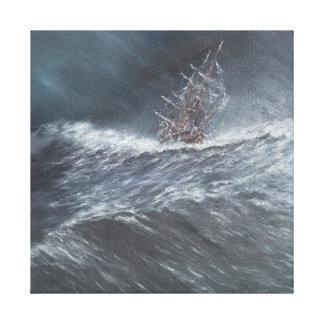 Beagle del HMS en una tormenta del cabo de Hornos Lona Envuelta Para Galerías