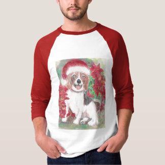 Beagle del navidad remeras