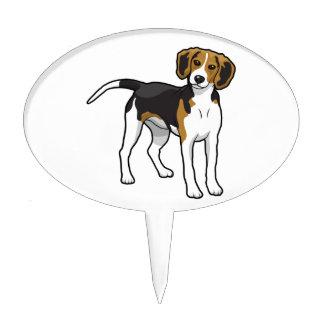 Beagle derecho palillos de tarta