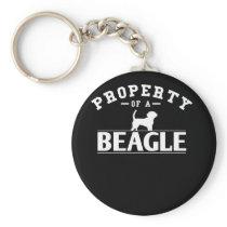 Beagle Design Property of A Beagle Keychain