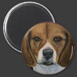 Beagle - Dog Breed Art 2 Inch Round Magnet