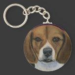 Beagle - Dog Breed Art Basic Round Button Keychain