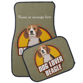 Beagle Dog Breed Lover Custom Name Car Mat