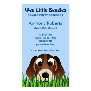 Beagle Dog Breeder Business Cards