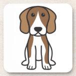 Beagle Dog Cartoon Drink Coaster