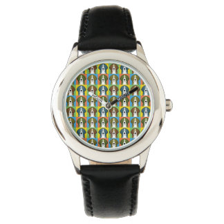 Beagle Dog Cartoon Pop-Art Wristwatch