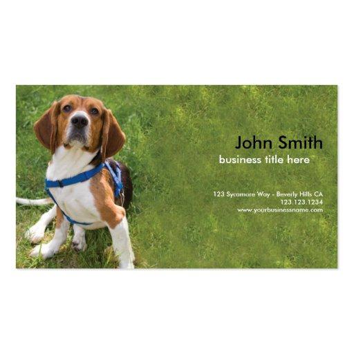 Beagle Dog Design business card