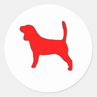 Beagle Dog Design Classic Round Sticker