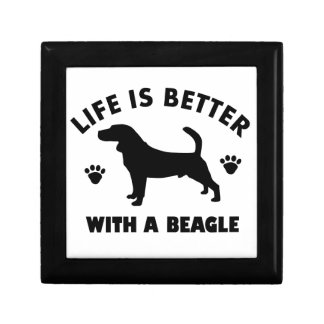 beagle dog design keepsake box