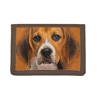Beagle dog digital art trifold wallet