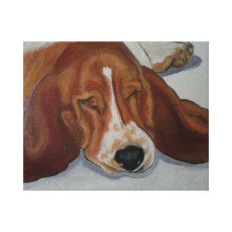 Beagle dog gallery wrapped canvas