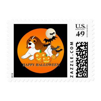 Beagle Dog Halloween Postage