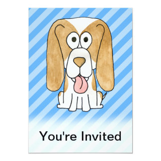 Beagle Dog. Personalized Announcement