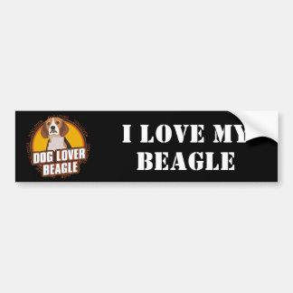 Beagle Dog Lover Car Bumper Sticker