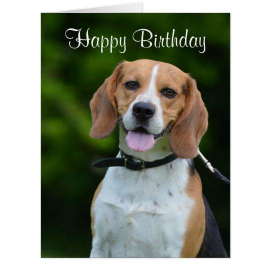 beagle dog lovers cute custom birthday card  zazzle