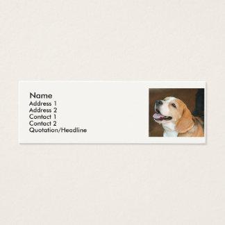 Beagle Dog Mini Business Card