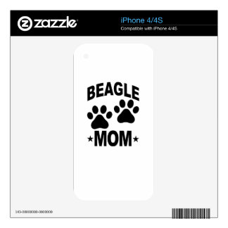 Beagle DOG MOM.png Decal For The iPhone 4
