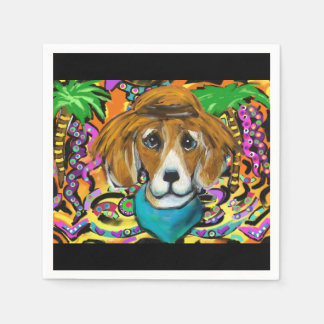 BEAGLE DOG PAPER NAPKIN